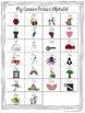 Cursive Alphabet Posters - Black & White Chevron with Color Pictures