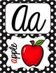 Cursive Alphabet Posters - Black & White Polka Dot {Fun Font}