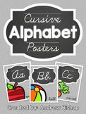 Cursive Alphabet Posters [Chalkboard & Gray]