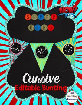 Cursive Alphabet Posters {Chalkboard Super Hero}