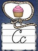Cursive Alphabet Posters {Country Western Classroom Decor Theme}