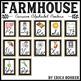 Cursive Alphabet Posters: Farmhouse Style