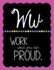 Cursive Alphabet Posters | Growth Mindset and Positive Classroom Quotes