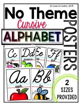 Cursive Alphabet Posters - No Theme
