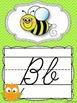 Cursive Alphabet Posters {Owls and Chevron Decor Theme}