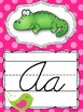 Cursive Alphabet Posters {Polka Dots and Pretty Birds}