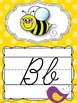 Cursive Alphabet Posters {Polka Dots and Pretty Birds}