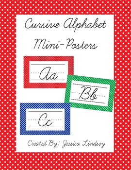 Cursive Alphabet Posters - Primary Colors