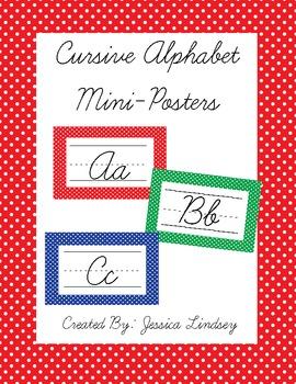 Cursive Alphabet Posters - Primary Colors