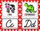 Cursive Alphabet Posters - Red & White Polka Dot