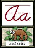 Cursive Alphabet Posters - Safari/Jungle Theme