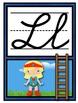 Cursive Alphabet Posters - Superhero Theme