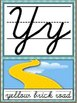 Cursive Alphabet Posters - Wizard of Oz Theme