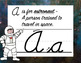 Cursive Alphabet Posters for Space Themed Class Decor