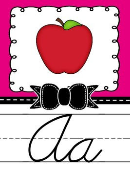 Cursive Alphabet Posters with Bow