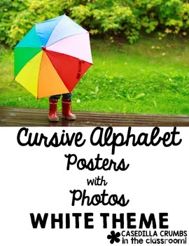 Cursive Alphabet Posters with Real Photos Pictures Photogr