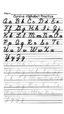 Cursive Alphabet Practice Sheets ENGLISH & SPANISH (with letter Ñ)