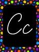 Cursive Alphabet- Rainbow Dots