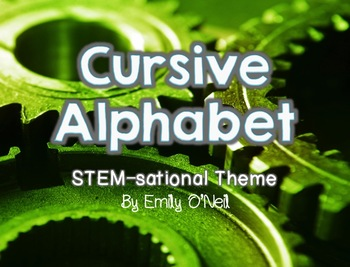 Cursive Alphabet (STEM-sational Theme)