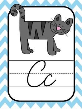 Cursive Alphabet- Warm Colors