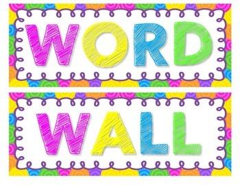 Cursive Word Wall- 400 Words!