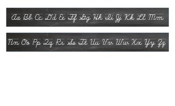 Cursive Alphabet desk strip