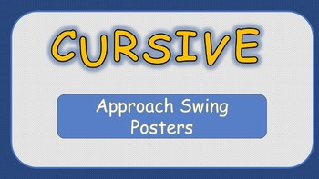 Cursive Approach Strokes Posters