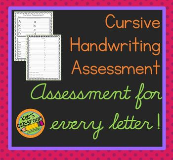 Cursive Assessment  - Improve Your Cursive Writing
