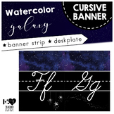 Cursive Banner Strip and Desk Plate