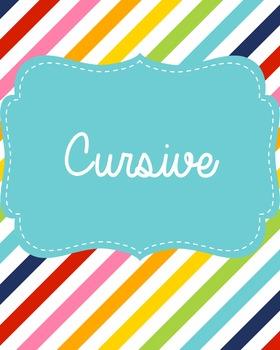 Cursive Binder Cover