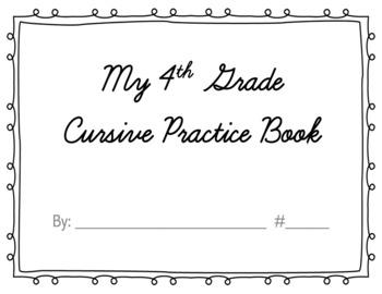 Cursive Book Cover Page