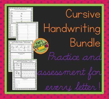 Cursive Bundle  - Practice and Assessment -Improve Your Cursive Writing