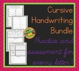 Cursive Bundle  - Practice and Assessment -Improve Your Cu