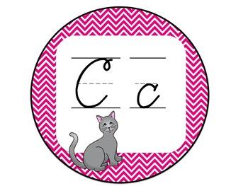 Cursive Chevron Alphabet Line