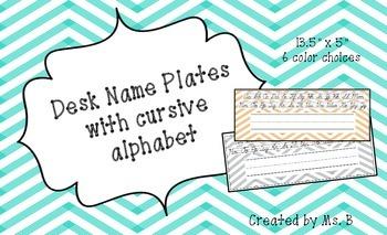 Cursive Chevron Name Plates