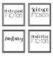 Cursive Classroom Library Labels Using Bitmojis