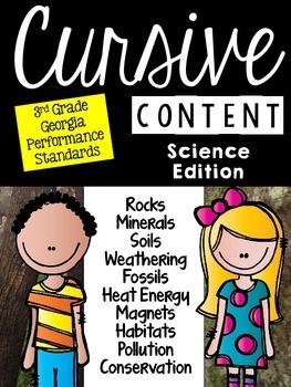 Cursive Content - Science Cursive Practice Passages
