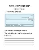 Cursive Contest Entry Form