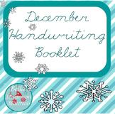 Cursive December Writing Practice Word Booklet