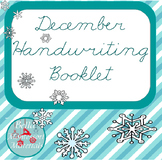 Cursive December Writing Practice Word Booklet