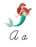 Cursive Disney Alphabet