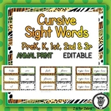 Cursive Dolch Sight Words - Editable
