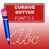 Cursive Dotted Font