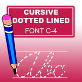 Cursive Dotted Lined Font