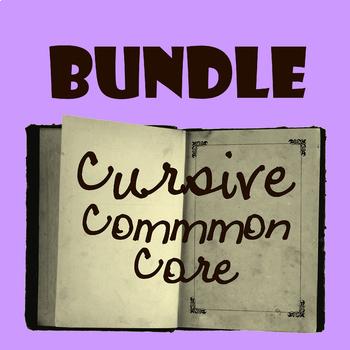 Cursive ELA-Aesop's Fables. BUNDLE. Common Core! NO Prep!