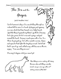 Cursive Fable The Fox and the Grapes. COMMON CORE WRITING!