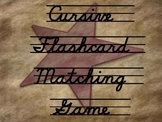 Cursive Flashcard Matching Game  ABC Captial and Lower Case