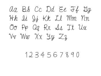 Cursive Font!