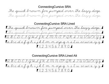 Cursive Font Family SRA Style