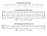 Cursive Font Family (SRA Style)